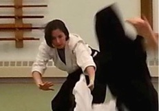 Woman Aikido throw
